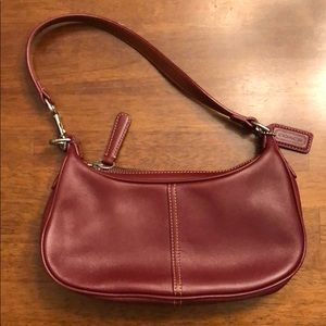 Beautiful red leather Coach purse!